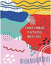 Cahier familial d'activités multi-jeux: 100 ACTIVITES   Mots mêlés   Mots mélangés   Sudokus   coloriage mandala  Labyrinthes   Solutions en fin de livre   Grand format 21,59 x 27,94 cm