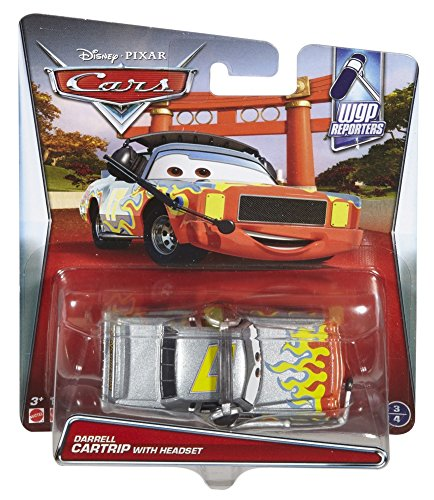 Disney/Pixar Cars WGP Reporters Die-Cast Darrell Cartrip wit