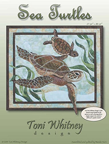 Sea Turtles Ocean Sealife Toni Whitney Designs Fusible Appli