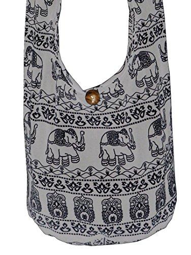 Shoulder Elephant Lovely Boho B Size Gray Hippie Sling Bohemian Gypsy Large Creations's Crossbody New ErIrzwq
