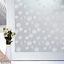 ASIBG Home Dandelion Self-Adhesive Glass Film Sliding Door Bathroom Kitchen Window Frosted Window Stickers Transparent Opaque Paper 90*100Cm