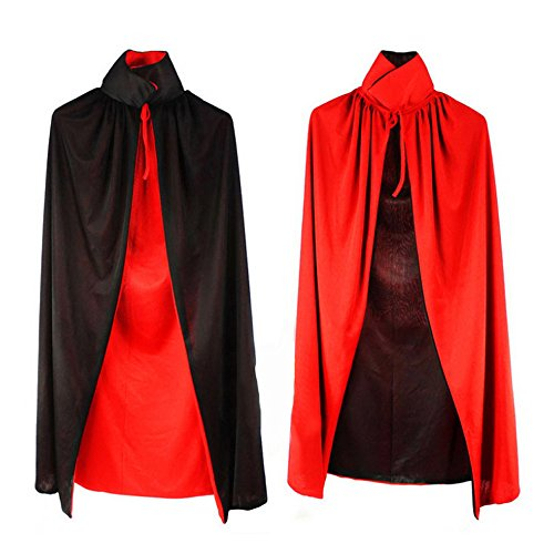 (Kids' Cloak Costume for Halloween, Masquerade Party and Daily Cosplay, Black and Red)