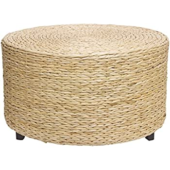 Oriental Furniture Rush Grass Coffee Table/Ottoman   Natural