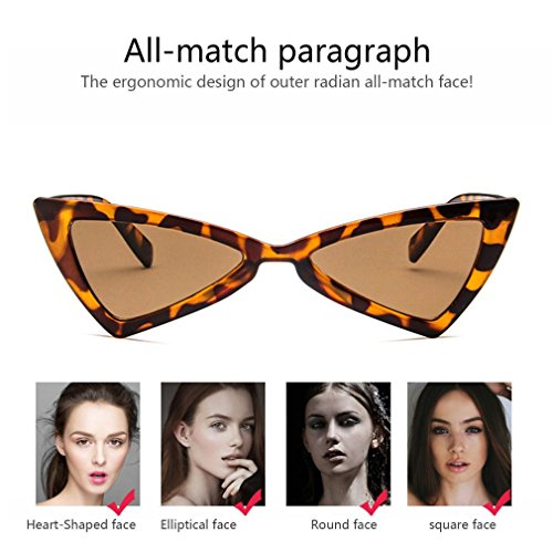 diseño de mujer de de Gafas triángulo sol de para sol ojo de viaje gafas UV400 gato FqIa6tax