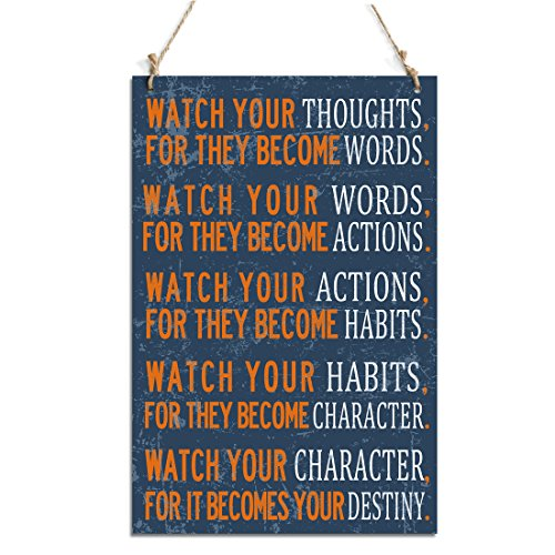 For They Become Words Rustic Decorative Signs (10