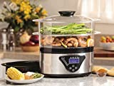Food Steamer Electric Digital Display 2 Steam Baskets - Best Reviews Guide