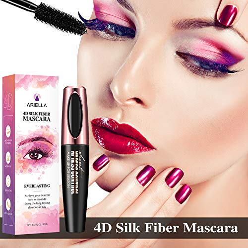 Natural 4D Silk Fiber Lash Mascara, Waterproof & Smudge-Proof, All Day Exquisitely Lush, Full, Long,...