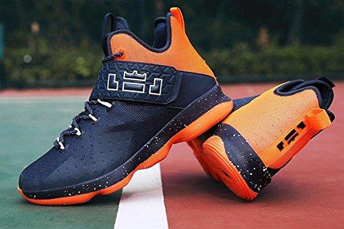 Frauen Männer Leistung Basketball Schuhe im Freien Sport Mode Turnschuhe von JiYe Blau Orange