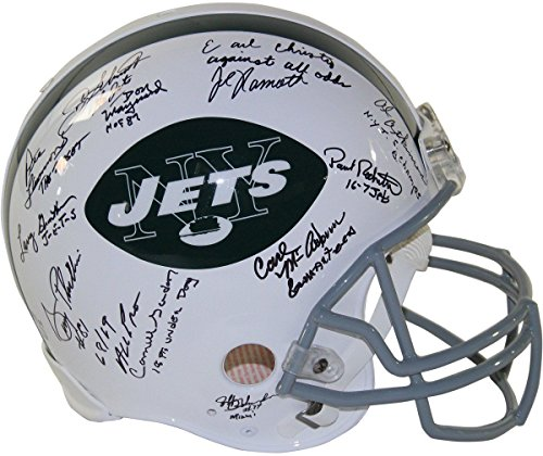 - 1969 New York Jets Team Signed (24 Signatures) Authentic Helmet STEINER LE 69