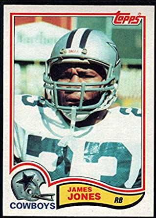 Amazon.com  Football NFL 1982 Topps  319 James Jones Cowboys ... d290444f5