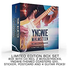 The limited Blue Lightning Deluxe Edition has 2 bonus tracks (not available on the regular CD), and Yngwie-themed coasters, sticker, postcard and guitar pick! Legendary guitarist Yngwie Malmsteen releases Blue Lightning on March 29, 2019 on M...