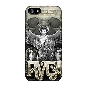 Icase88 Apple Iphone 5/5s Bumper Hard Phone Covers Provide Private Custom Lifelike Rvca Pattern [AId125CQFv]