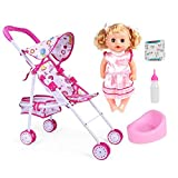 Best Baby Doll Strollers - Baby Doll Strollers with Lovely Doll Foldable Pretend Review
