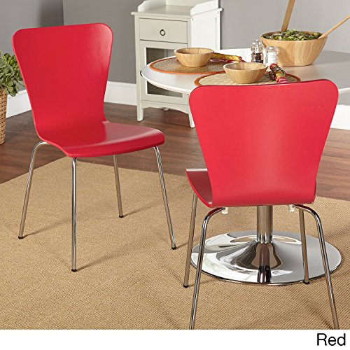 Simple Living Pisa Bentwood Stackable Dining Kitchen Chairs (Set of 2) (Bentwood Dining Chair)