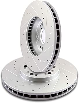 2001 2002 2003 2004 2005 Lexus IS300 Cross Drilled Rotors Ceramic Pads F+R