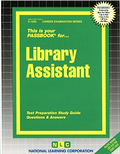 Library Assistant(Passbooks) (Career Examination Passbooks)