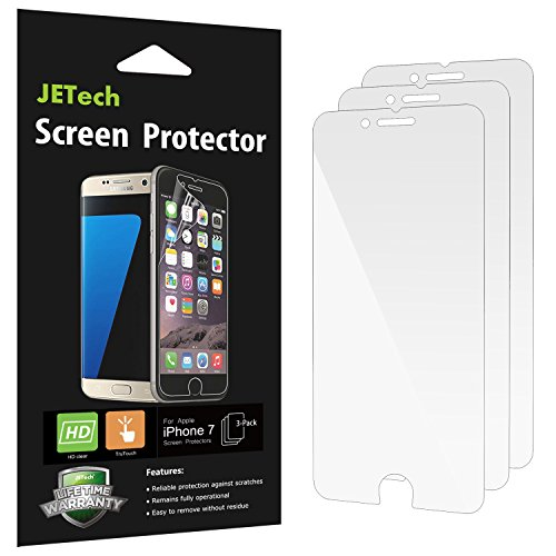 JETech 3-Pack iPhone 8 iPhone 7 Screen Protector PET Film HD Clear