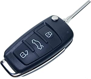 Uniqkey R8 Style All in One Flip key remote Replacement for FJ Cruiser chip-L FT Keyless Entry Control Fob Clicker switchblade Transmitter folding transponder chip Alarm beeper