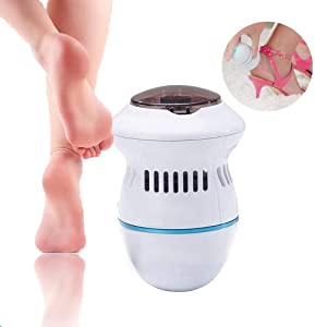 Portable Electric Vacuum Adsorption Foot Grinder - US Fast Shipment USB Electronic Foot File Pedicure Tools, Dual-Speed Callus Remover -Hard Cracked Dry Skin Perfect Dry Electronic Foot File (White)