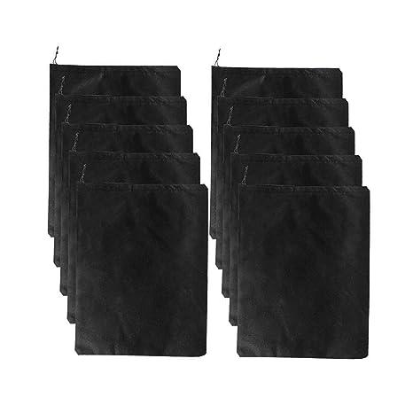 Diossad 10 Piezas Bolsas de Zapatos Negro Multifunción para Zapatos a Prueba de Polvo Transpirable Bolsa de Almacenamiento de Viaje