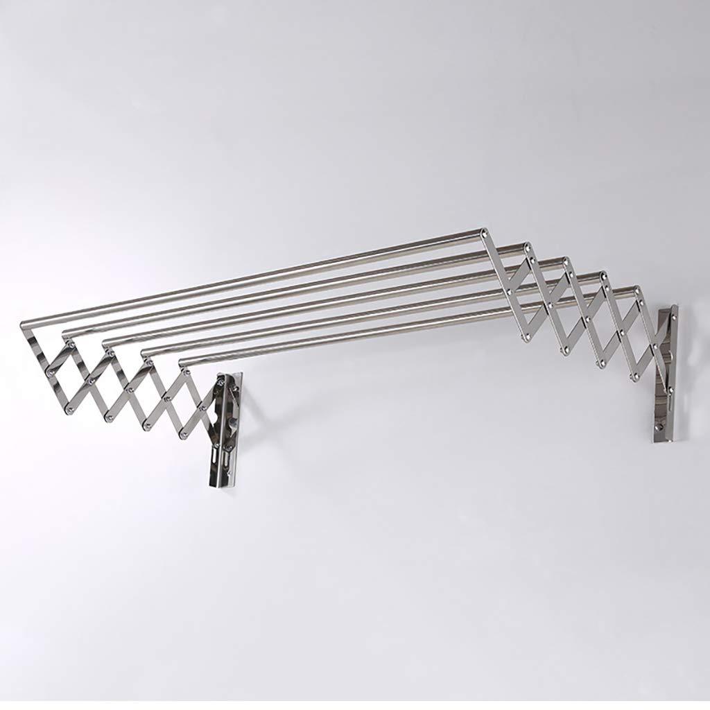乾燥ラック304ステンレス鋼伸縮折り畳みバスルーム、バルコニー、屋外乾燥ラックプッシュロッド50-120cm (サイズ さいず : 90cm) B07K1SNGRJ  90cm