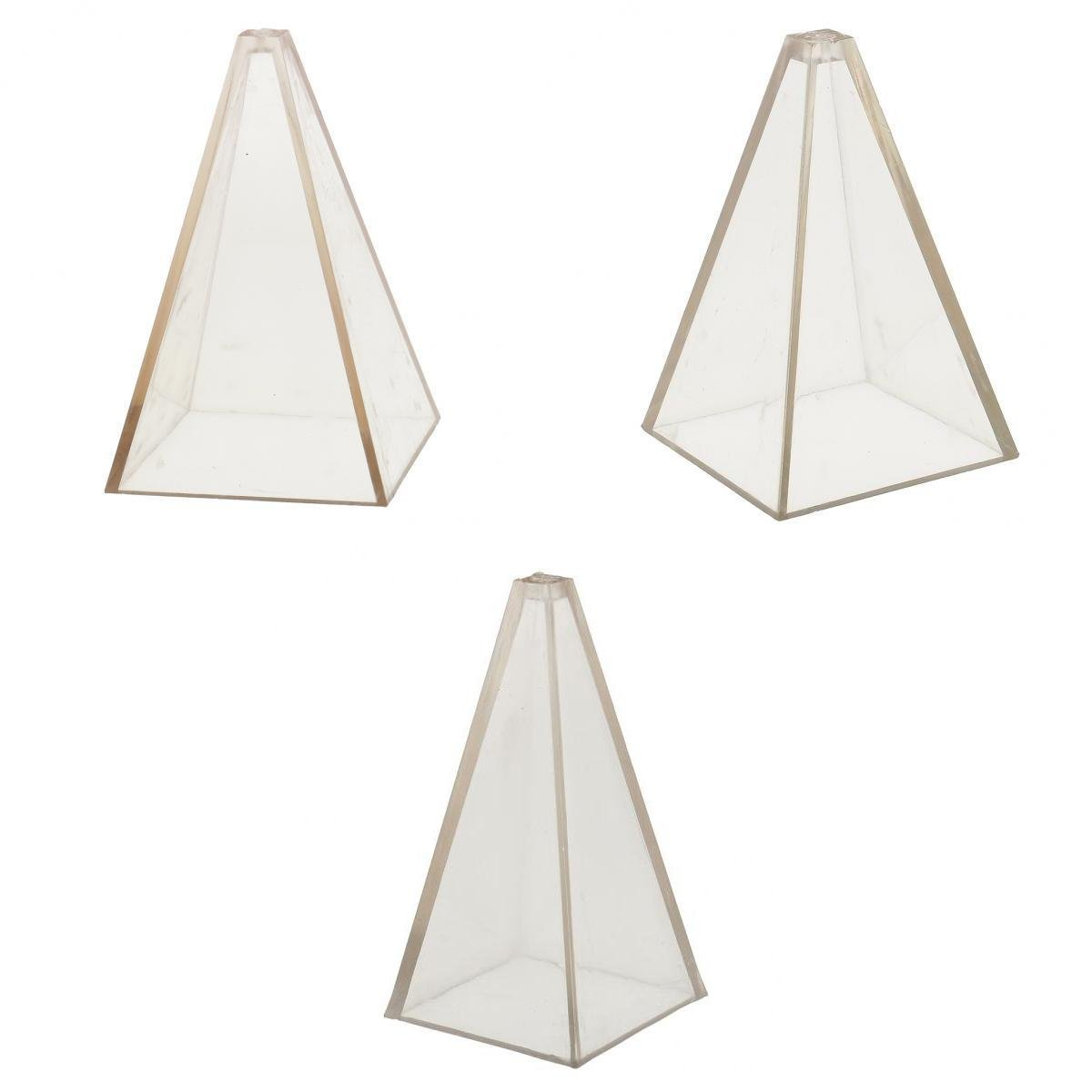 MagiDeal 3 Sizes Candle Moulds Pyramid Shape PC Plastic Material Handcrafts DIY