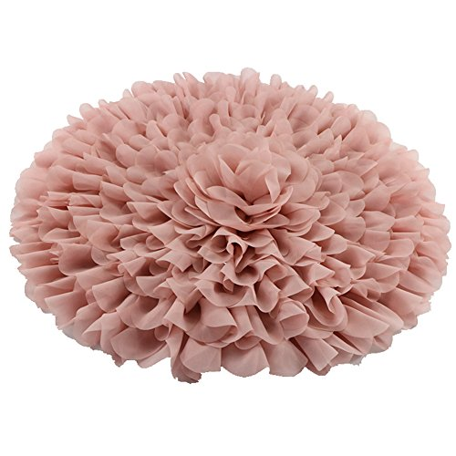 Price comparison product image Handcraft Soft Chiffon Round Flower Blanket Newborn Photography Props