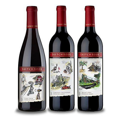 Sketchbook Red Wine Mixed Pack, 3 x 750 mL