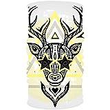 Headband Deer Head Tribal Headwear Sport Sweatband Yoga Head Wrap for Men Women