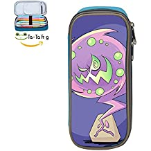 Spirittomb Pencil Case Pen Bag Durable Students Funny Stationery Double Zipper Blue