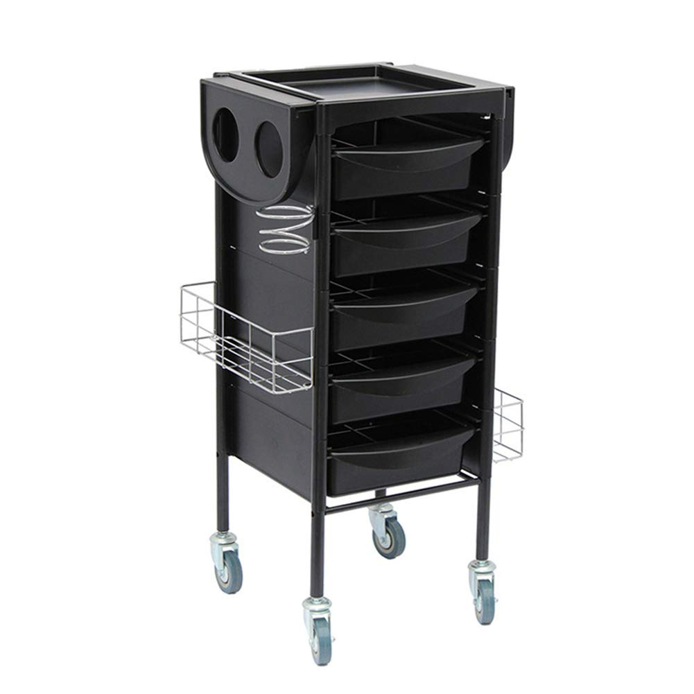 Amazon.com: AOTROLLEY Salon Hairdresser Trolley Cart with 5 ...
