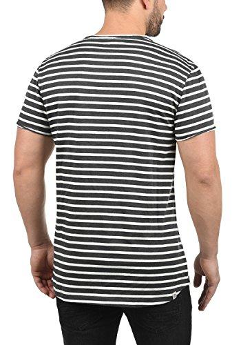 shirt shirt rond manches avec à Men's Blend col noir70155 courtes Chemise Genesis à T rayures ulK1cJF3T