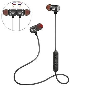 auriculares in ear headphone bluetooth 4.1 inalambricos deportivos Sannysis auriculares con micrófono incorporado micrófono soporte técnico