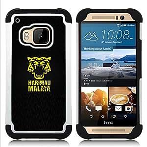 - HARIMAU MALAYA/ H???¡¯???€????€?????brido 3in1 Deluxe Impreso duro Soft Alto Impacto caja de la armadura Defender - SHIMIN CAO - For HTC ONE