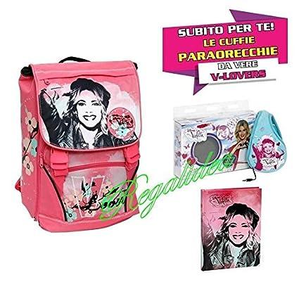 Mochila escolar Violetta Giochi Preziosi 2017 y 2018 + Diario + gadget Auriculares