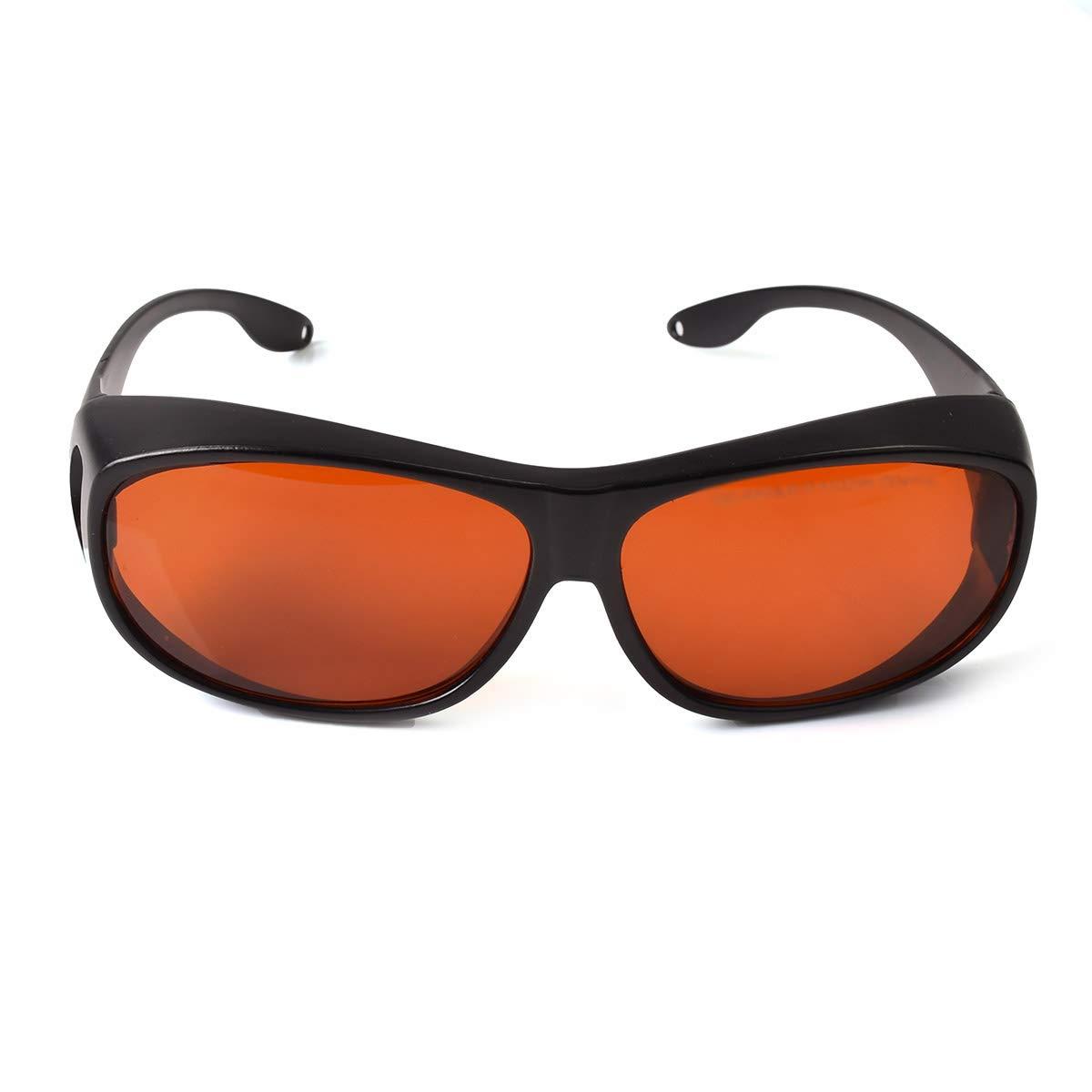 OD 6+ 190nm-550nm / 800nm-1100nm Wavelength Professional Laser Safety Glasses for 405nm, 450nm, 532nm, 808nm,980nm,1064nm, 1080nm, 1100nm Laser (Style 4) by FreeMascot