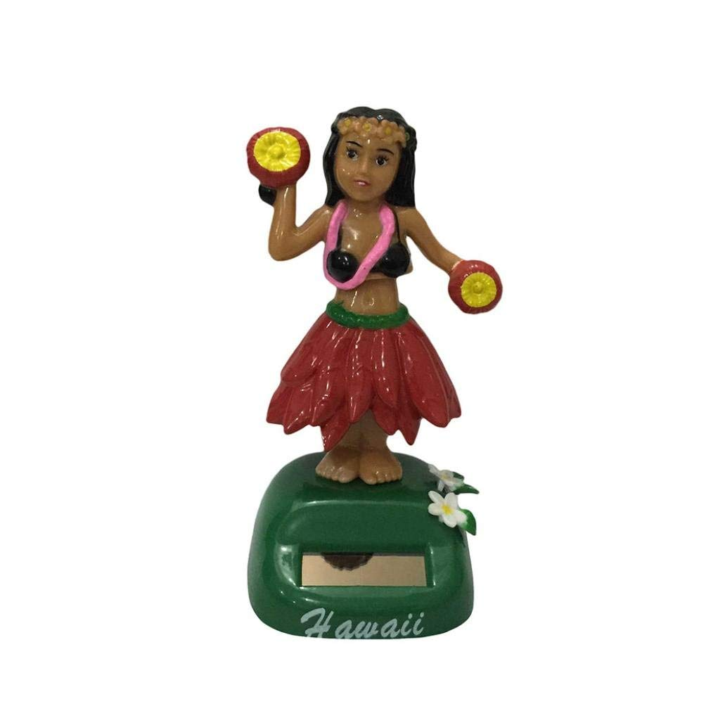 Yevison Car Accessories, Solar Powered Girl Swinging Animated Bobble Dancer Toy Car Decor Dancing Bobble,Non-Toxic, Environmental Protection B Durable and Practical