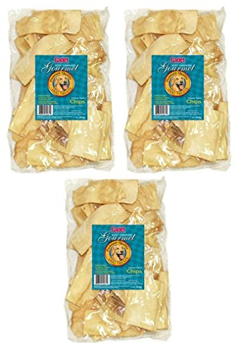 Trading Corp Rawhide - (3 Pack) IMS Trading 10061-16 Chicken Rawhide Chips for Dogs, 1-Pound