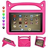 Vanskye F i r e 7 2017 Kids Case, F i r e 7 2015 Kids Case Light Weight Shock Proof Protective [Kids Friendly] Case Cover for All New F i r e 7 inch Display Tablet Cover(2015&2017 Release) (Pink)