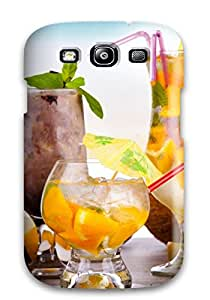New Style Tpu S3 Protective Case Cover/ Galaxy Case - Fruity Summer Cocktails