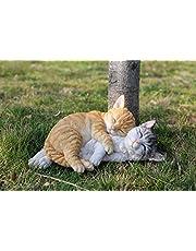 Hi-Line Gift 87757-K Orange & Grey Tabbies Cat Statue