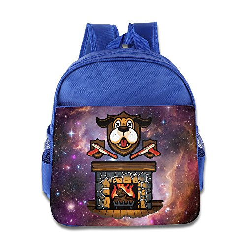 Dog Fireplace Christmas Kids Backpack School Bag For Boys/girls (Kelty Dog Packs)