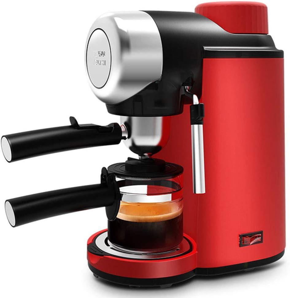 LZ Cafetera MáQuina De Café Espresso Manual SemiautomáTica para Hacer Espuma Y Mini MáQuina De Café PequeñA De AutococcióN,Red: Amazon.es: Hogar
