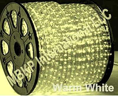 WARM WHITE 12 Volts DC LED Rope Lights Auto Lighting 15 Meters(49.2 Feet)