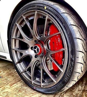 4 embellecedores de rueda exclusivos de edición limitada para Mercedes AMG, rojo fuego, 75 mm: Amazon.es: Coche y moto