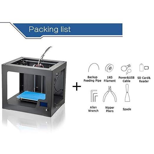 ZMM Impresora 3D DIY portabilidad Personal 3D-impresoras, tamaño ...