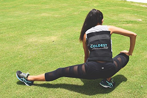 The Coldest Ice Pack Large Flexible Gel Ice Pack and Wrap with Elastic Straps Specific for Cold Therapy - Great for Back Leg Sprains, Muscle Pain, Bruises, Injuries - 11