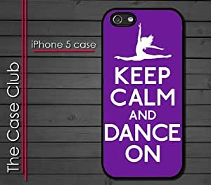 iPhone 5 Rubber Silicone Case - Keep Calm and Dadnce On Ballet Ballerina Dancing Toe Pointe by ruishername