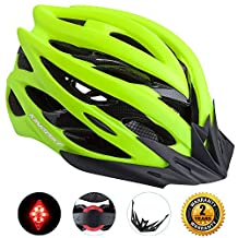 Basecamp Specialized Bike Helmet with Safety Light, Adjustable Sport Cycling Helmet Bike Bicycle Helmets for Road & Mountain Biking,Motorcycle for Adult Men & Women,Youth - Racing,Sleek,Safety Protection