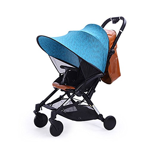 Baby Stroller Sun Visor Carriage Sun Shade Canopy Cover for Prams Stroller Accessories Car Seat Buggy Pushchair Cap Sun Hood anti-UV for Pushchairs,Cribs,Bassinet by Keebgyy (blue) by Keebgyy